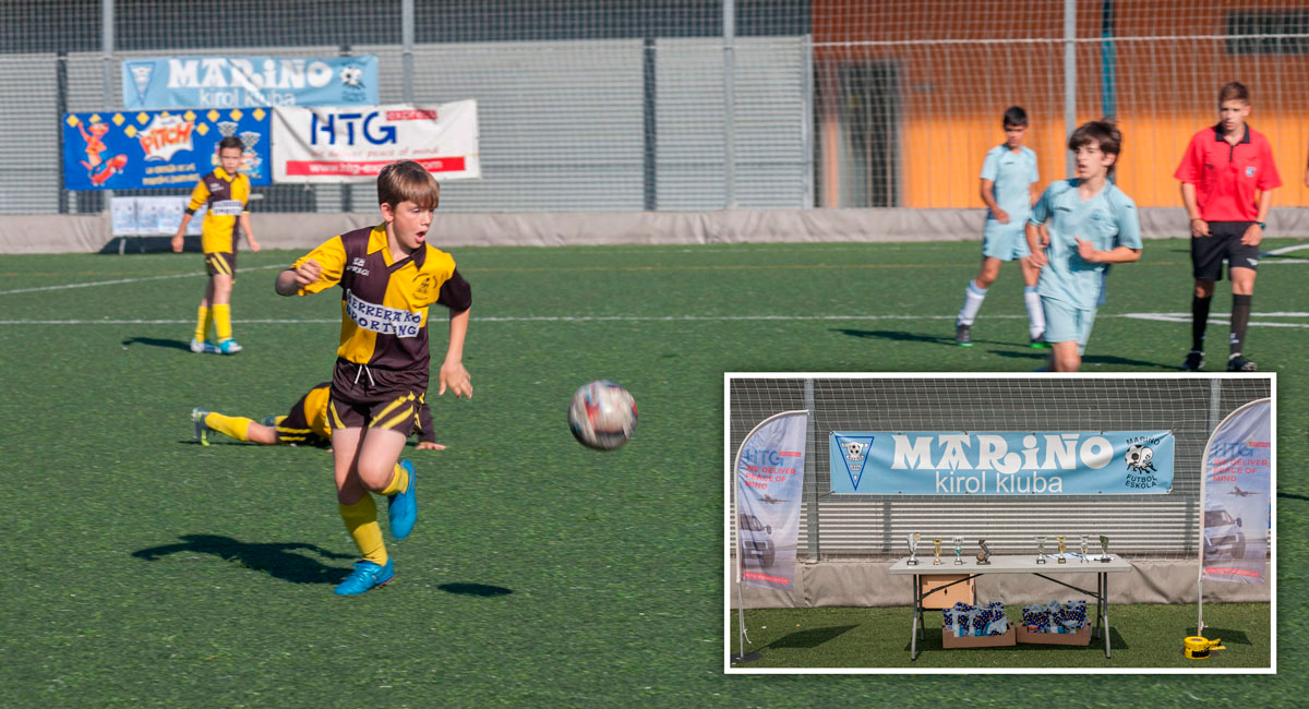 HTG Express, en la entrega de premios del Torneo Escuelas de Fútbol del Bidasoa